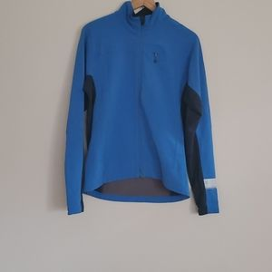 Ibex Climawool Black and Blue Softshell Jacket L